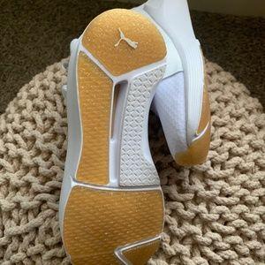 6e2606364a19a Puma Women's Fierce White/Gold Cross-Trainer Shoe